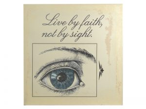 WALL DECOR SILK PRINTING LIVE BY FAITH