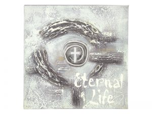 WALL DECOR HANDPAINTED STRETCHED CANVAS ETERNAL LIFE