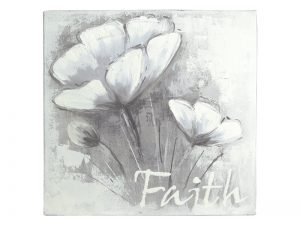 WALL DECOR HANDPAINTED STRETCHED CANVAS FAITH