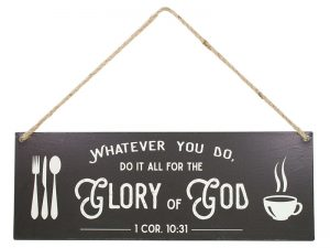 WALL DECOR METAL W/ ROPE GLORY OF GOD