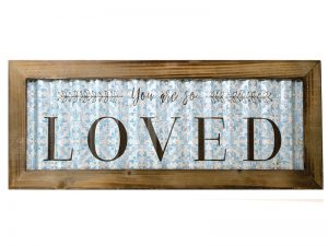 WALL DECOR CORRUGATED TIN YOU ARE SO LOVED  20x8x.5