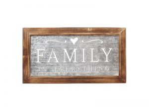 WALL DECOR TIN FAMILY IS EVERYTHING 22X12 (S)
