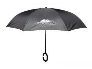 UMBRELLA REVERSIBLE UNSHAKABLE FAITH BLACK