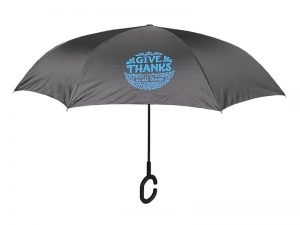 UMBRELLA REVERSIBLE GIVE THANKS FLORAL