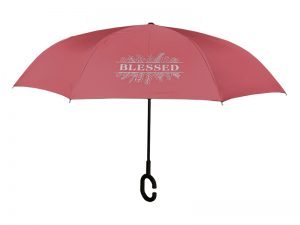 UMBRELLA REVERSIBLE BLESSED BURGUNDY