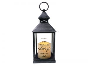 LANTERN LED CANDLE – BLACK – WITH YOU ALWAYS