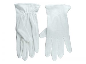 GLOVE PLAIN WHITE S