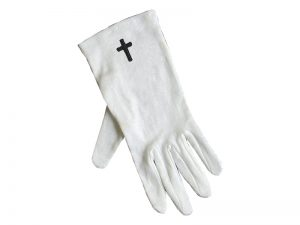 GLOVE CROSS WHITE L