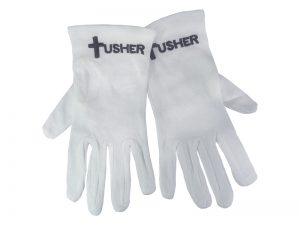 GLOVE USHER WHITE L