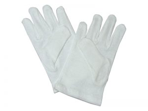 GLOVE PLAIN WHITE CHILD M