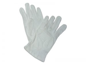 GLOVE PLAIN WHITE CHILD L
