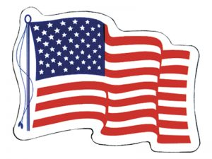 AMERICAN STICKER WAVING FLAG PC 50