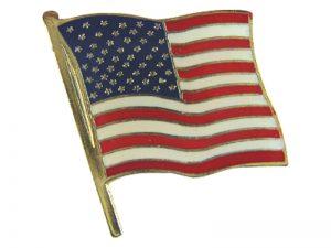 LAPEL PIN AMERICAN FLAG PK12