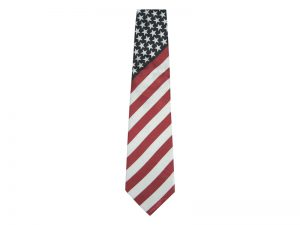 TIE POLYESTER AMERICAN FLAG