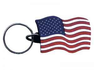 KEY CHAIN AMERICAN FLAG PK12