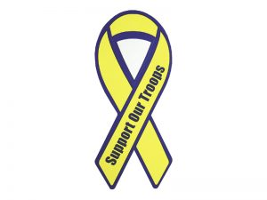 RIBBON MAGNET SUPPORT OUR TROOPS – PACK OF 6