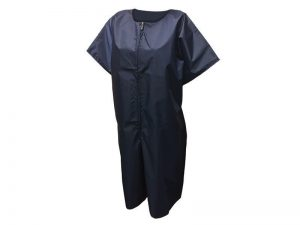 BAPTISMAL GARMENT/ROBE NAVY ZIP LG