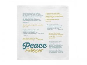 PRAYERS IN MY POCKET PEACE 8″x8″  6PC