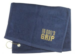GOLF TOWEL IN GOD'S GRIP NAVY