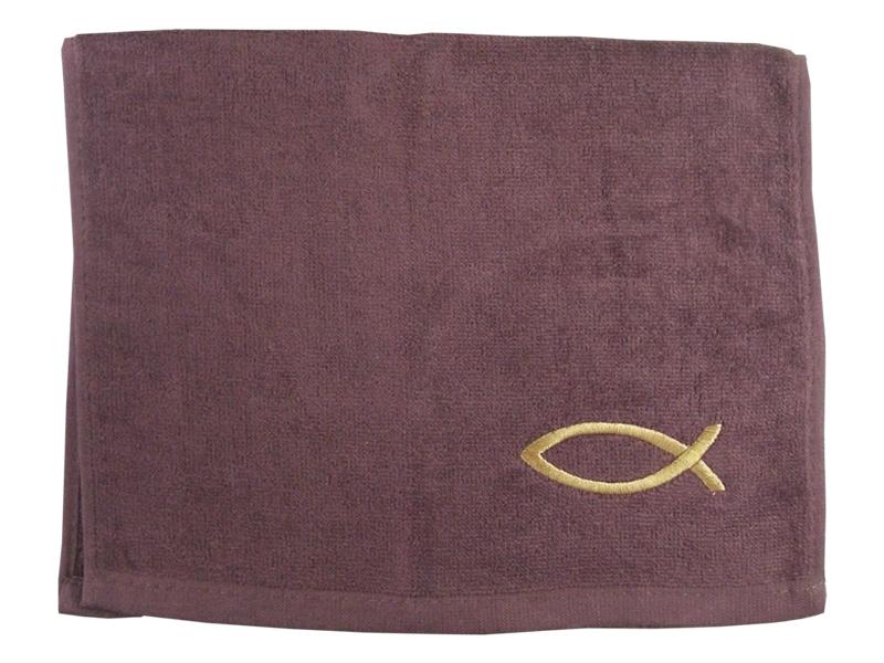PASTOR TOWEL FISH BURGUNDY