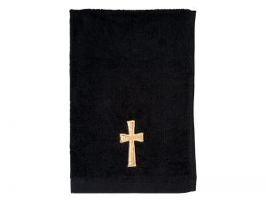 PASTOR TOWEL CROSS BLACK