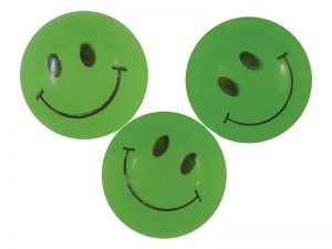 BOUNCING BALL SMILE FACE GLOW PK144