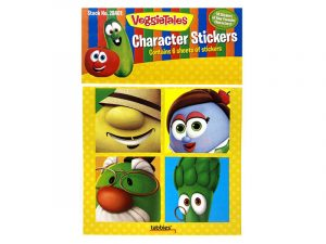 VEGGIE TALES CHARACTER STICKERS PK 10
