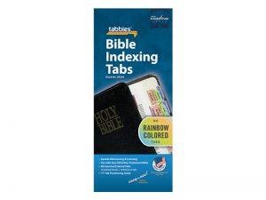 BIBLE INDEX TABS RAINBOW TABBIES PK10