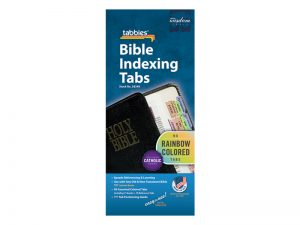 BIBLE INDEX TABS CATHOLIC RAINBOW TABBIES PK10