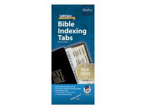 BIBLE INDEX TABS GOLD TABBIES PK10