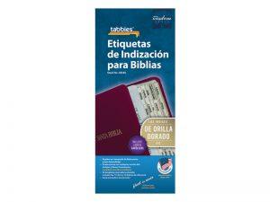 BIBLE INDEX TABS SPANISH GOLD TABBIES PK10