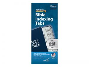 BIBLE INDEX TABS SILVER TABBIES PK10