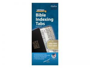 BIBLE INDEX TABS LARGE PRINT GOLD TABBIES PK10