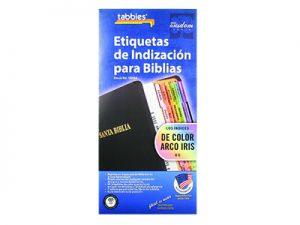 BIBLE INDEX TABS SPANISH RAINBOW TABBIES PK10