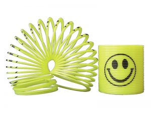 MINI 1 1/4″ SMILE FACE SLINKY PK48