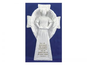 ANGEL/CROSS PLAQUE 6 3/4″ X 4″