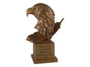 EAGLE BRONZE SCULPTURE IS 40:31 9 INCH