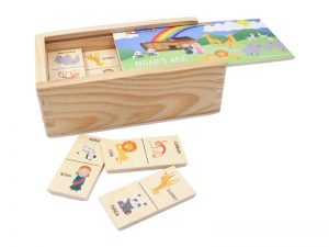 WOOD DOMINOS NOAH'S ARK