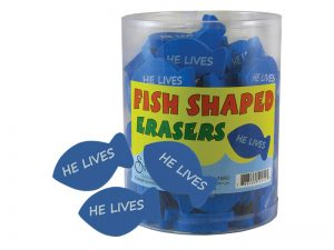 ERASER HE LIVES BLUE FISH PK96