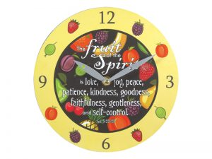 WALL CLOCK FRUIT OF THE SPIRIT 8 INCH