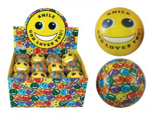 SOFT PLAY BALL SMILE GOD LOVES YOU PK24