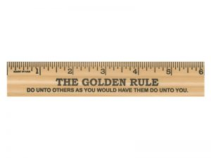 GOLDEN RULE 6″ WOOD RULER PK24