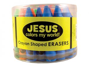 ERASER JESUS COLORS MY WORLD PK36