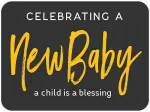 YARD SIGN NEW BABY 18 X 24 INCH INCLUDES STAKE