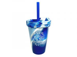 CUP SILICONE IT IS WELL – BLUES 16 OZ