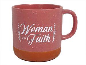 MUG WOMAN OF FAITH 13 OZ DEEP ROSE