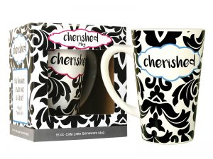 MUG LATTE CHERISHED 16OZ