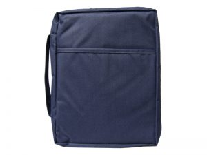 BIBLE COVER CANVAS NAVY PLAIN L