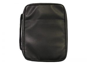 BIBLE COVER IMITATION LEATHER BLACK L