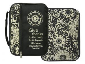 BIBLE COVER CANVAS GIVE THANKS XL